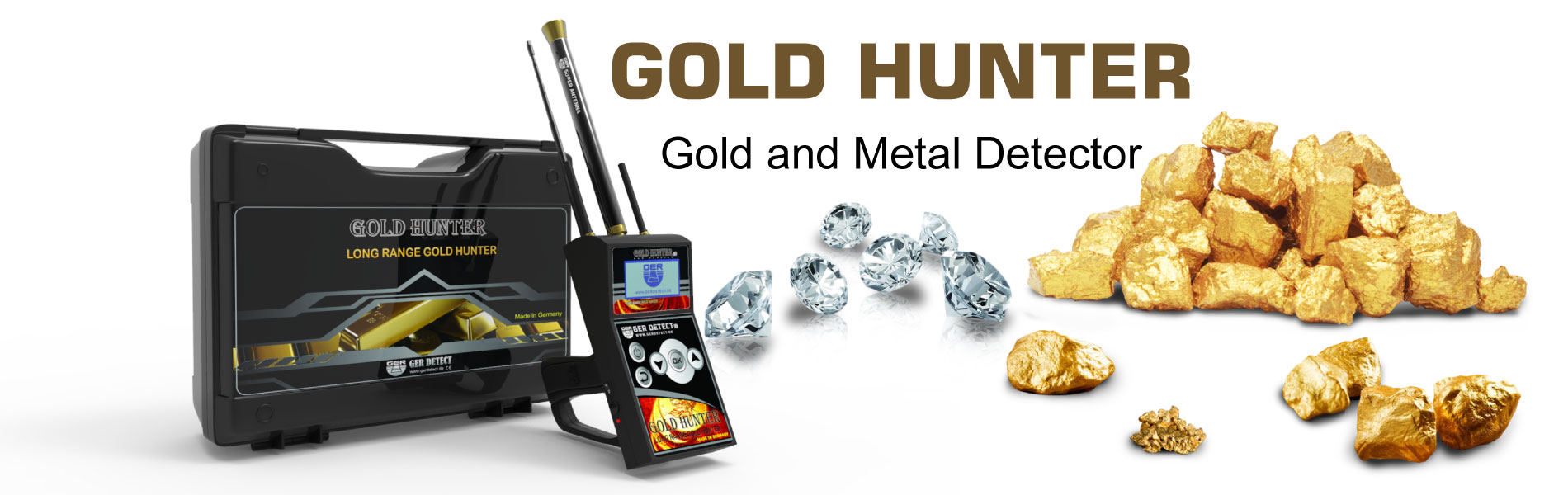 gold hunter device with long range system